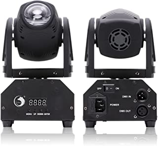U`King LED Moving Head Light RGBW Beam Light with DMX for Show DJ Disco Party Stage Lighting