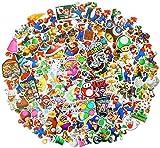 Cartoon Stickers[100pcs], Mario Stickers, Vinyl Sticker for Laptop Water Bottle Guitar Bike Car Motorcycle Bumper Luggage Skateboard Graffiti, Cute Decals, Best Gift for Kids,Children,Teen