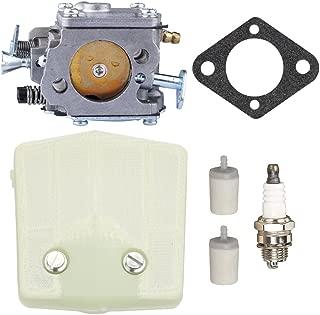 Panari Carburetor + Air Filter Spark Plug Fuel Filter for Husqvarna 61 266 Chainsaw