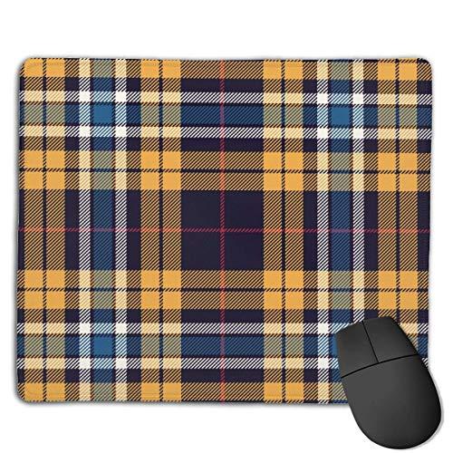 Mousepad Tartan Pattern Nahtlose mehrfarbige karierte Gaming-Mausmatte mit Karomuster, rutschfeste Gummibasis