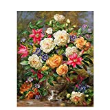 ODMKGE Ölgemälde Königin Elizabeth Blume Selbst Gemacht Leinwand Malerei Acryl Wandkunst Bild...