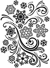 Darice 1218-39 Embossing Folder, 4.25 by 5.75-Inch, Snowflake Swirl Design