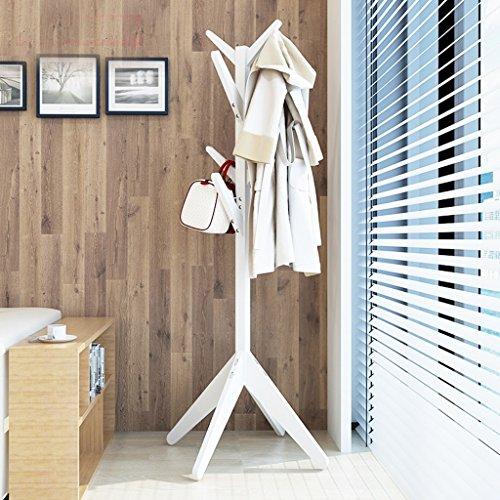 Dongyd Percha de madera maciza para ropa de aterrizaje para dormitorio, simple y moderno (color: # 1)