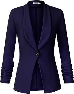 Enjoyoself Donna Cardigan Coprispalle Leggero Maniche 3//4 Tailleur e Giacche da Abito Blazer Elegante