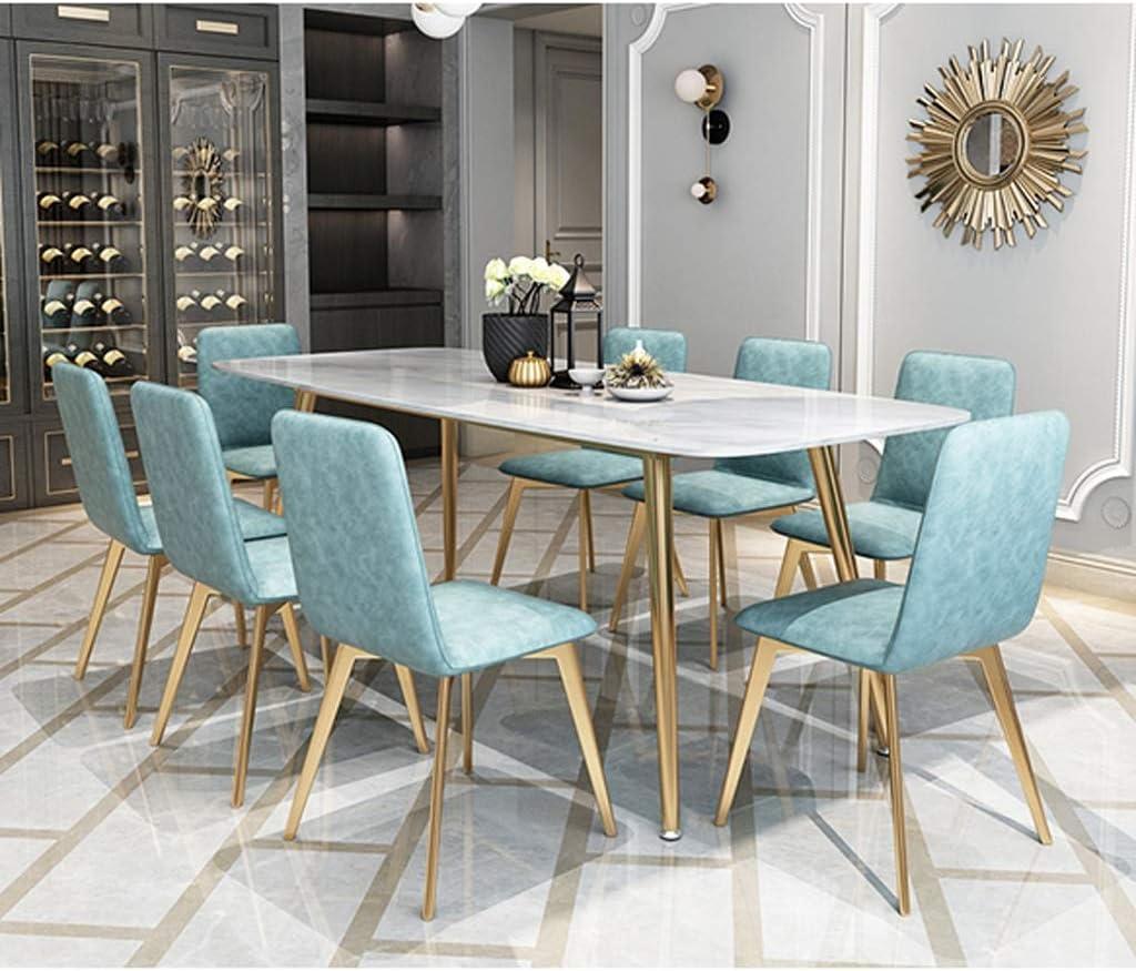 WDX- Chaise de salle, Chaise de bureau simple, créative Dossier, Chaise Loisirs, Maison adulte Chaise de salle mode (Color : Dark gray) Blue