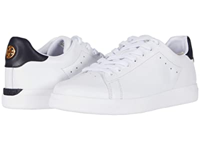 Tory Burch Valley Forge Sneaker (Titanium White/Tory Navy) Women