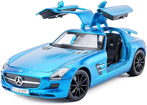 YSNUK Modèle réduit de voiture Modèle de voiture de sport, modèle de voiture en alliage de simulation orneHommests en métal Collection for adultes Jouets for enfants 1 18 SLS Mini voiture modèle, décorat