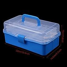 WUTINGKONG Gereedschapskist Transparante Plastic Opvouwbare Drie Lagen Opslag Opvouwbare Doos Tool Organizer Container Cas...