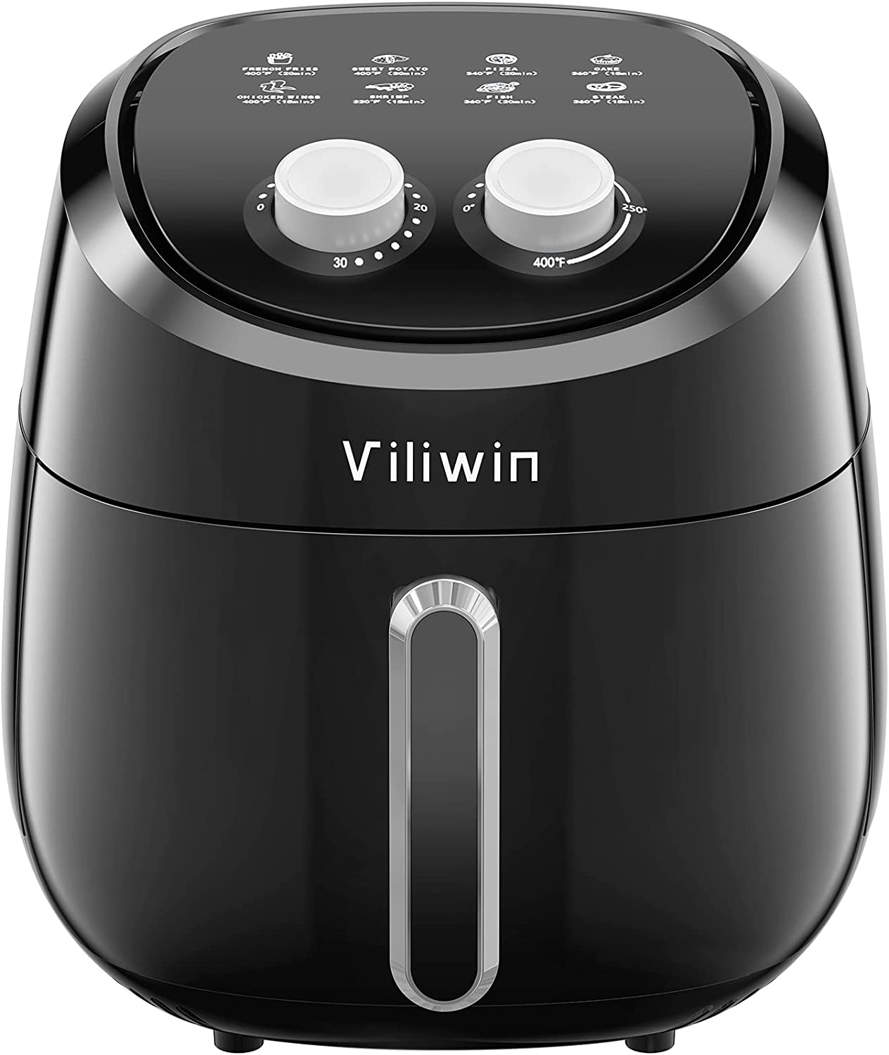 Air Fryer Oven ,4.2QT?Oil-free?8-in-1 ,Electric Hot Oven Oilless Cooker, ETL/FDA Listed,Dishwasher Safe ,Nonstick,1400W,Prime Smart Top Rated Mini Air Fryer(Black)