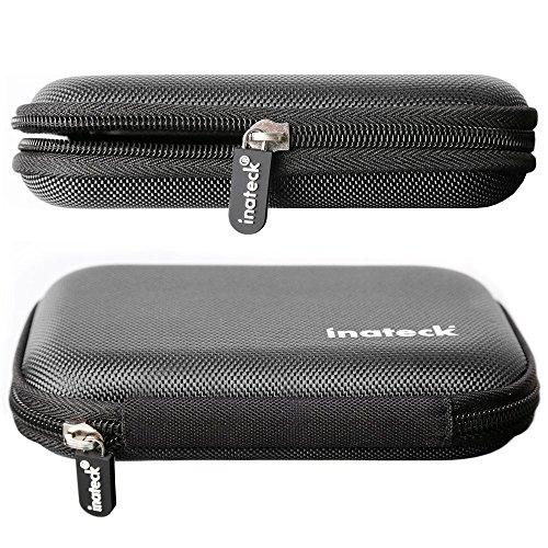 Inateck Universal Festplattentasche für 2,5 Zoll Festplatten und SSD/HDD, Hard Case erschütterungsfeste Schutzbox