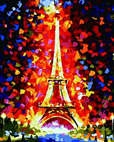 Golden maple DIY Malen nach Zahlen-Ölgemälde Geschenk für Erwachsene Kinder Malen Nach Zahlen Kits Home Haus Dekor --Eiffel Tower-s 40*50 cm