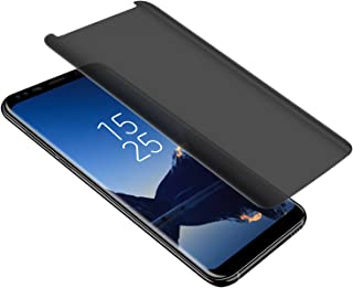 Galaxy S8/S9 Privacy Screen Protector, LETANG Tempered Glass Anti Glare/Spy Anti-Scratch No Bubble 9H Hardness 3D Touch Compatible with Samsung Galaxy S8/S9 (Transparent)