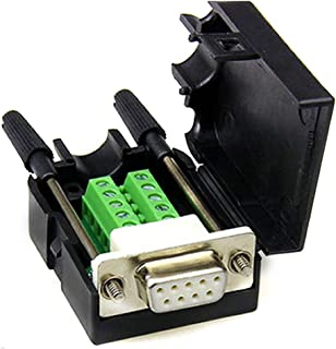 DB9 D-SUB RS232 Adapter 9 Pin Signals Terminal Breakout Plastic Cover 2 Row (Female with Screw)