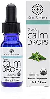 Calm-a-Mama Organic Calm Drops for Pregnant Women, Nursing Moms & Babies – 0.5oz / 15ml Natural Calming Remedies – Plant-Based Calm Relief Drops Made in The USA with Lemon Balm Extract
