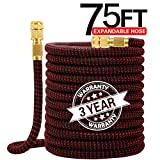 """75FT Expandable Garden Water Hose-3750D Polyester Cover Fabric 
