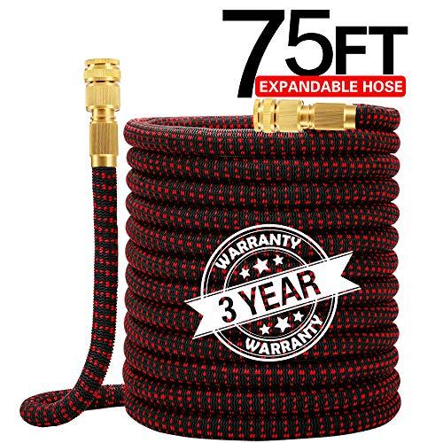 Worth Flexibler Gartenschlauch Ausgedehnt Bis 22,5m/75FT Flexischlauch Wasserschlauch mit Messing Adapter zur Bewässerung und Reinigung
