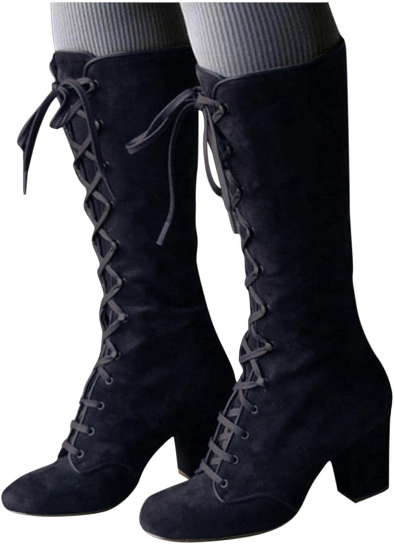 Zieglen Boots for Women Flat Boots Vintage String Bead Boots Hiking Boots Winter Women Booties Ankle Booties for Women