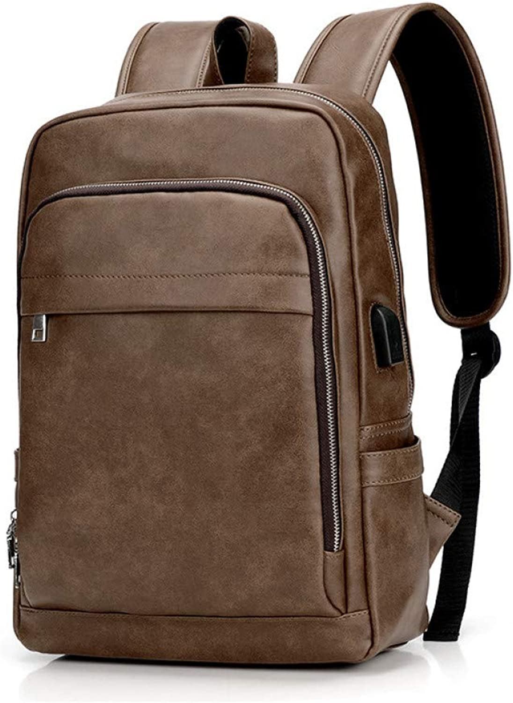 HUYANNABAO Pu Leather Backpack Luxury Messenger Laptop Large Capacity Softback Brand Business Men Bag Office Men Casual Backpack