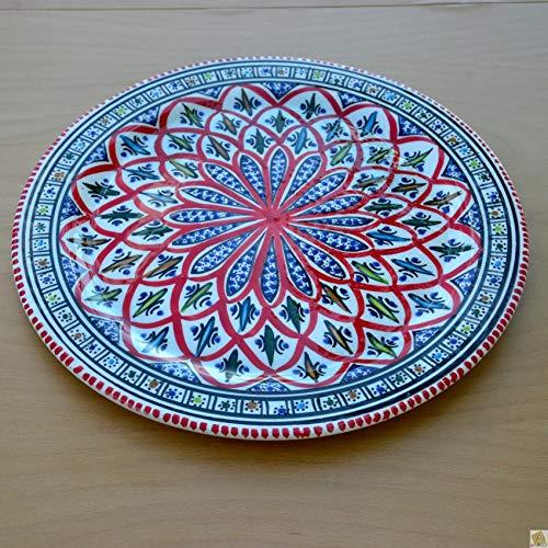 /D 20/cm Red Yodeco Set of 6/Starter or Dessert Plates BAKIR/