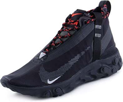 Nike Mens React Runner Mid WR ISPA Black/White-Anthracite Synthetic