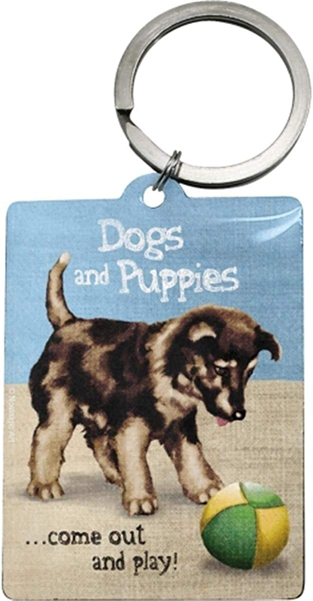 Animal Club Dogs and Puppies/Keychain Keyring Keychain