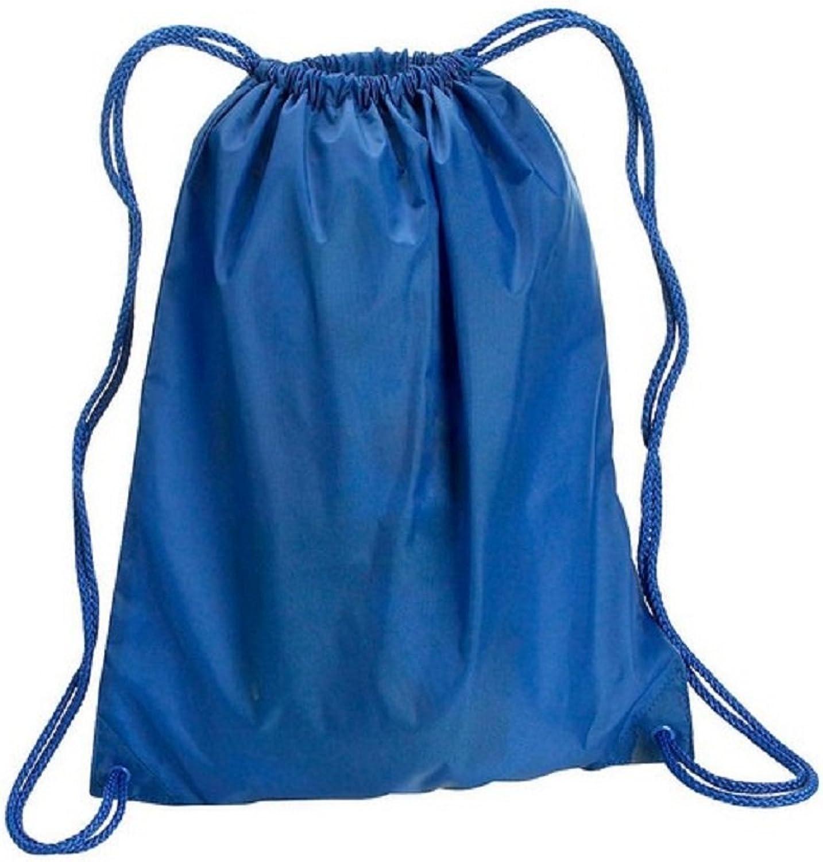 Large Cinch Bags Polyester Drawstring Backpacks Set of 10