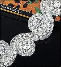 Crystal Rhinestone Applique Wedding Beaded Applique 1 Yard DIY Bridal Applqiues for Wedding Dress Embellishment Decoration
