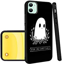 Sad Ghost iPhone 11 Phone Case Black TPU Protective case Shockproof Non-Slip Soft Designed Sad Ghost case for iPhone 11