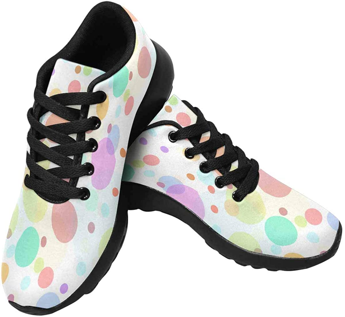 InterestPrint Multi-Colored Sweets Women's Running Shoes - Casual Breathable Athletic Tennis Sneakers