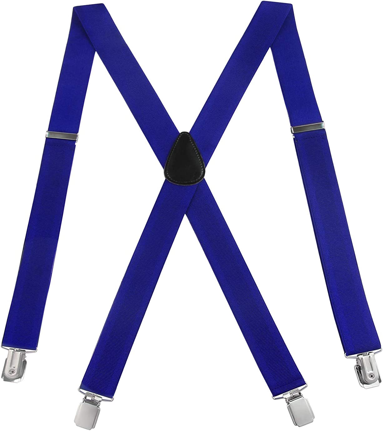 Mens Suspenders Adjustable New Orleans Mall OFFer X-Back Heavy Clip E Duty -