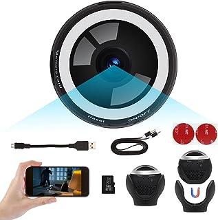 كاميرا مراقبة صغيرة خفية لاسلكية محمولة قابلة لتسجيل مقاطع الفيديو مزودة بشبكة WiFi عالية الوضوح بدقة HD 1080P مع مستشعر ل...