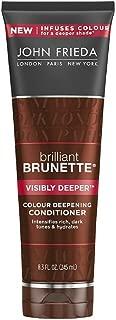 John Frieda Brilliant Brunette Colour Deepening Conditioner, Visibly Deeper 8.30 oz ( Pack of 2)