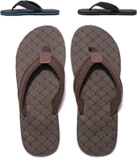 WOTTE Men's Flip Flops Beach Thong Sandals Casual Summer Shoes Size 7~14