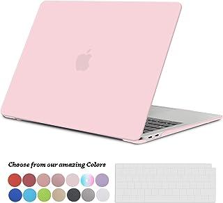 TECOOL Funda para 2018 2019 MacBook Air 13 Pulgadas A1932, Cubierta de Plástico Dura Case Carcasa con Tapa del Teclado para Nuevo MacBook Air 13 con Retina Pantalla y Touch ID - Cuarzo Rosa