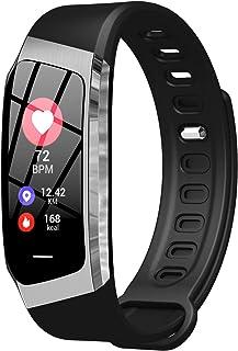 AIRMOOD Reloj Inteligente Inteligente Aptitud del Reloj rastreadores con Pulsómetro rastreador de Ejercicios Reloj podómetro Cronómetro Hombres Mujeres para iPhone teléfono Android