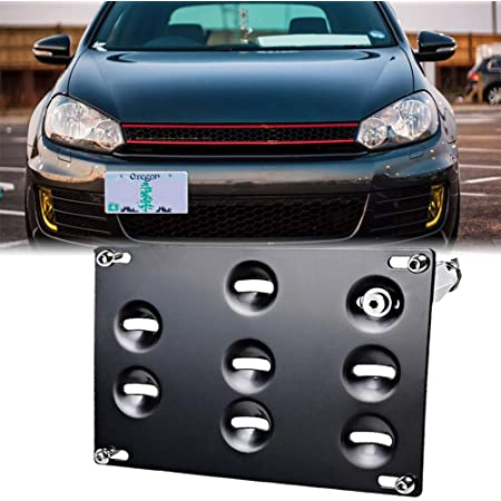 No Drill Tow Hook License Plate Mount MK5 2006-2009 Jetta, EOS, GTI, R32 GMG Motorsports NO Holes License Plate Bracket Kit for The VW MKV Models