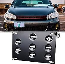 GTP Front Bumper Tow Hook License Plate Mounting Bracket Holder Relocator for VW 10-14 Golf, 06-09 R32 GTI, MK5 MK6, 05-10 Jetta, 11-14 Jetta Sportwagon, EOS, 07-14 Audi TT