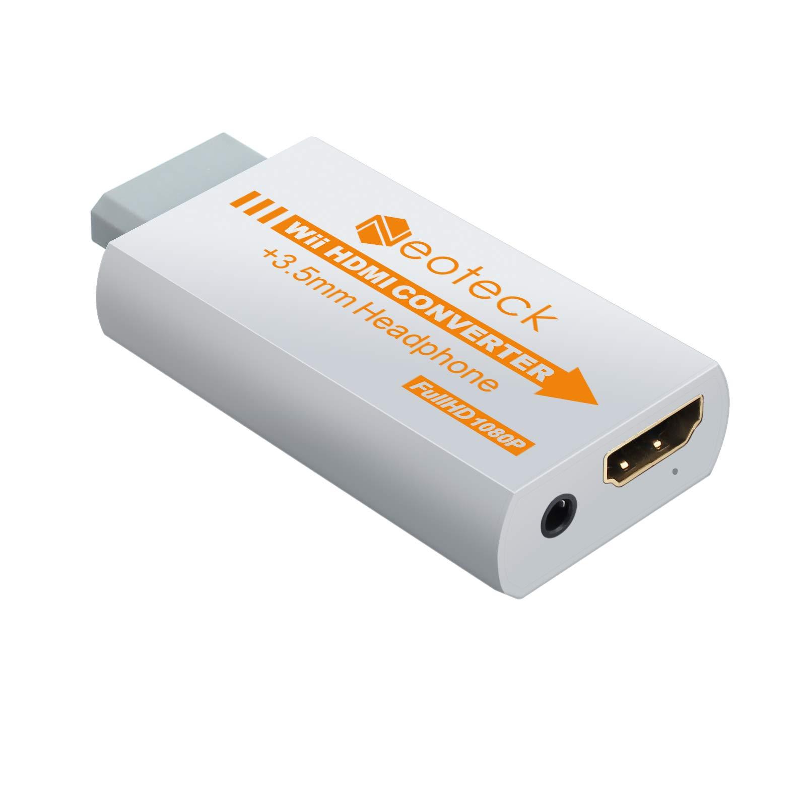Neoteck Wii a HDMI Convertidor Señal de Wii a 720P y 1080P Full HD + Adaptador de Audio Jack de 3.5mm Compatible con el Formato NTSC/PAL para Smart TV HDTV-Blanco: Amazon.es: Electrónica