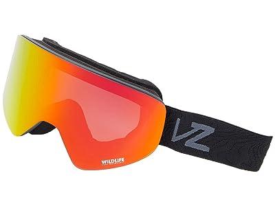 VonZipper Encore (Black Satin Wavey/Wildlife Fire Chrome) Goggles