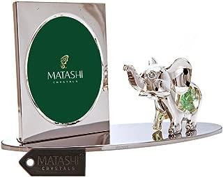 Matashi Cartoon Elephant Picture Frame with Genuine Crystals