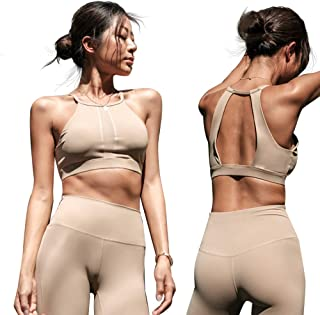 La Nikar Gym Workout Bra for Women - Fashion Front Raphe Backless Design for Running Yoga Exercise