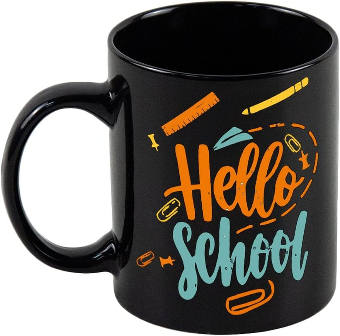 Aihesui San Francisco Mall 11 Oz Black Ceramic Tea Coffee As Hello With Don't miss the campaign School Mug