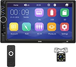 Double Din Car Stereo with Bluetooth 7 inch Capacitive Touch Screen FM Radio with USB TF Card AUX-in Port Support Mirror L...