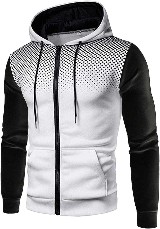Aayomet Men's Pullover Hoodies Zip up Polka Dot Long Sleeve Crewneck Sweatshirts Casual Workout Sport Tops Sweaters Blouses