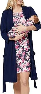 Mujer Premama Conjunto Camisa Dormir Bata Manta Bebe 1059