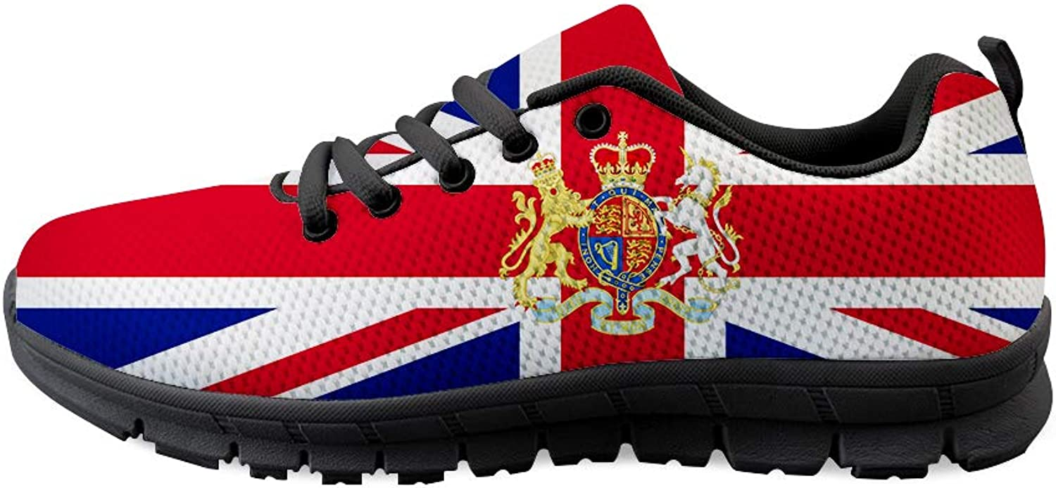 Owaheson Lace-up Sneaker Training shoes Mens Womens London United Kingdom Flag National Emblem