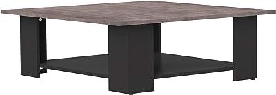 Marque Amazon -Movian Taro - Table basse, 89x89x30.5cm (longueurxprofondeurxhauteur), Noir et finition béton