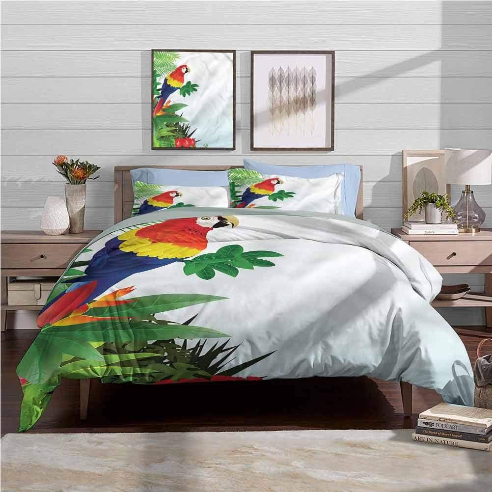 overseas vsunburst Complete Free Shipping Duvet Cover Set Parrots Bedding Cov Comforter Soft