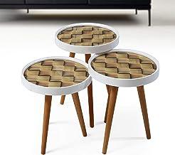 طاولة متدرجة الحجم 3 في 1 بنمط ريترو
