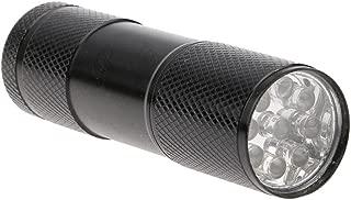 Vanker Multi-Function Portable 9 LED UV Ultra Violet Flashlight Watermark Money Detector Lights Silver New